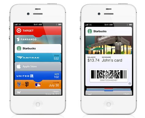 Gift Card Passbook - apple begins rollout of mobile wallet functionality with passbook app
