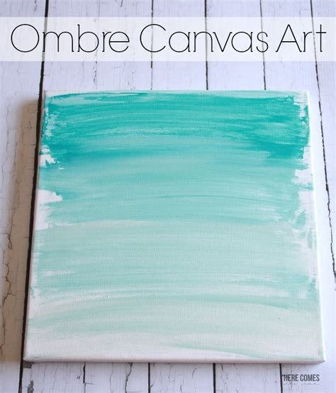 Bedroom Canvas Ombre Canvas Art Here Comes The Sun