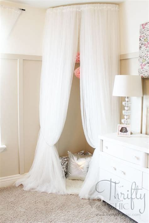 how to make a canopy with curtain rods whimsical canopy tent or reading nook made from curved