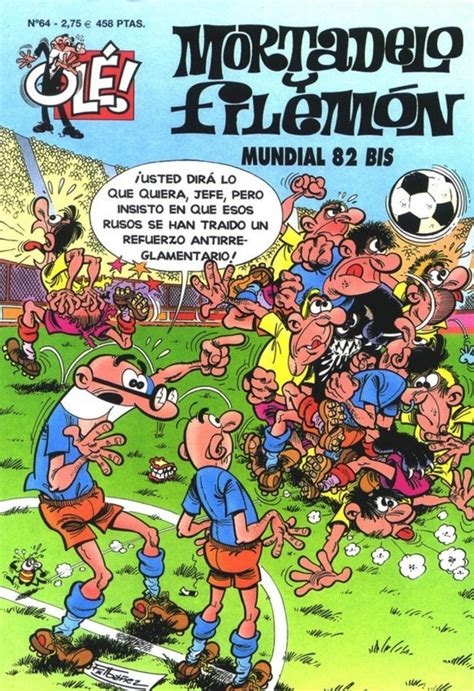 libro mortadelo y filemn mundial coleccion ole de mortadelo y filemon 64 mundial 82 bis issue