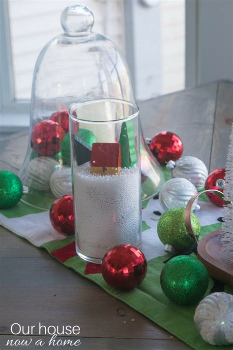 easy christmas centerpieces to make simple table centerpiece using dollar store items and easy to make diy ideas 4 our