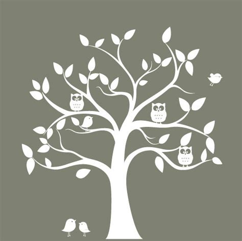 tree silhouette wall sticker nursery wall decal tree tree silhouette with by