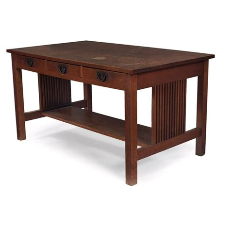 Stickley Table by 150 Gustav Stickley Library Table 659 Lot 150