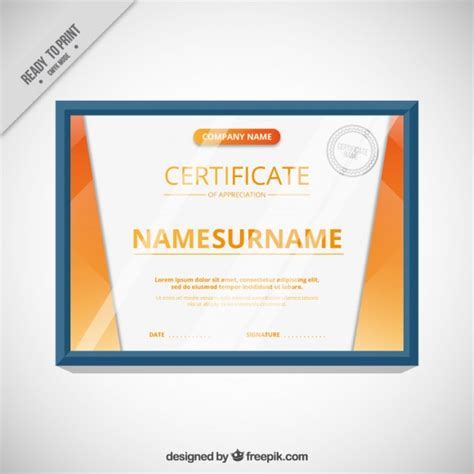 modern certificate template vector free download