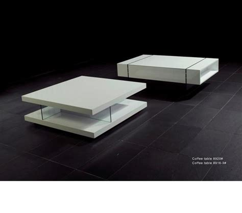 dreamfurniture 8916 white high gloss coffee table