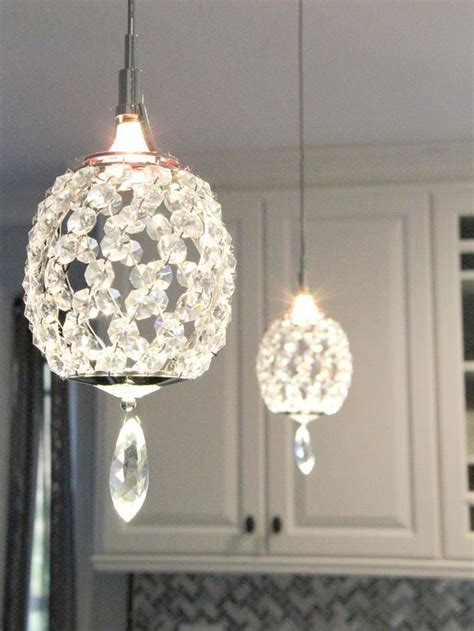 crystal pendant lighting for kitchen crystal pendant lights in transitional kitchen hgtv