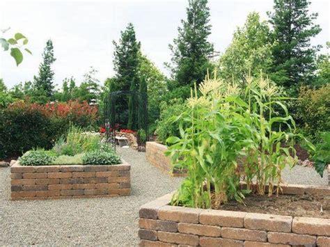 Raised Vegetable Garden Stone Beds Gravel Paths Home Rock Vegetable Garden