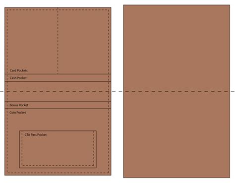 paper wallet template the gallery for gt diy leather wallet pattern