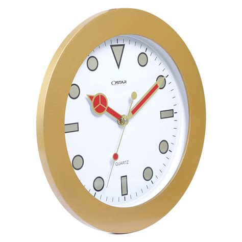 jam dinding ring emas 33 cm
