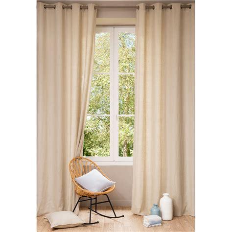 tenda beige tenda beige in lino slavato con occhielli 140 x 300 cm