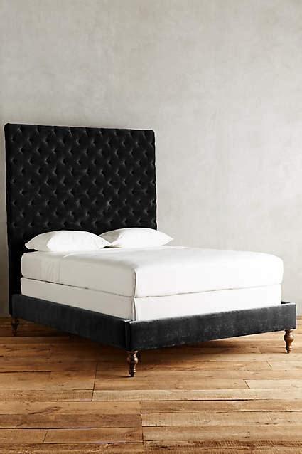 velvet tufted bed velvet tufted denouement bed in black