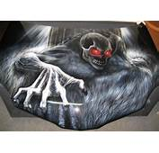 Airbrush Car Hood Painting Zombie Monster  Just