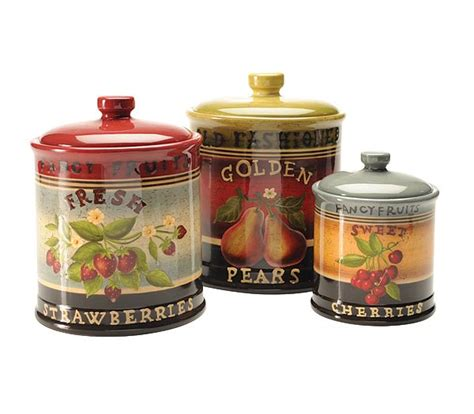 Old Fashioned Kitchen Canisters by Blonder Home Eastside Market Canisters Set