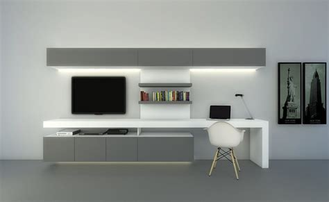 desk and tv stand combined modulus composicion tv con escritorio modulus com ar