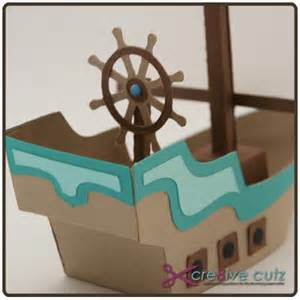 How To Make A Pirate Ship With Paper - 3d pirate ship svg paper crafting pattern cre8ive cutz