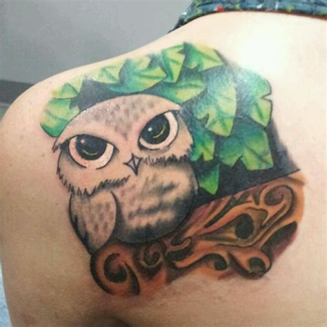 blue owl tattoo reviews make him blue give him softer eyes tattoo s that rock