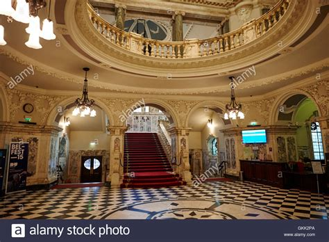 Belfast Foyer the grand staircase foyer entrance and rotunda interior of stock photo royalty free