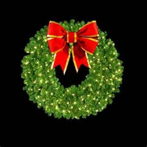 Outdoor Lighted Wreath Holidays Decor