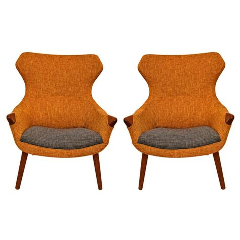 scandinavian armchairs pair of scandinavian armchairs in the style of hans wegner
