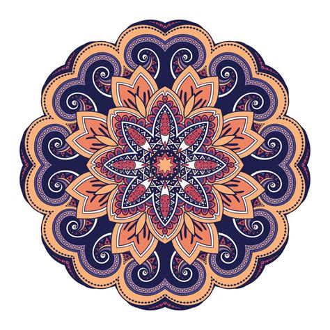 vector beautiful deco colored mandala stock vector