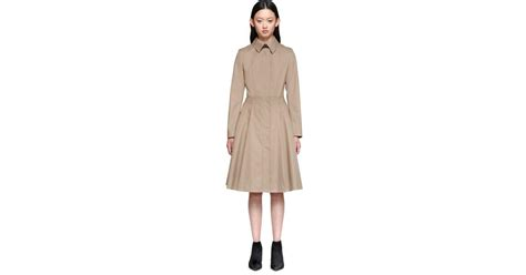 mackage grecia trench coat with pleated skirt in sand in