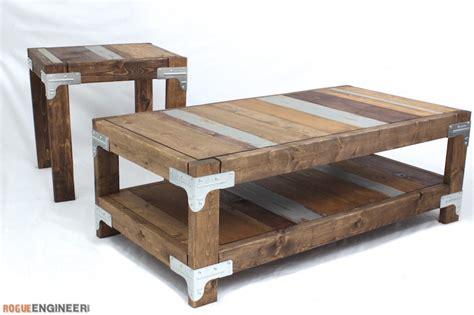 coffee table plan industrial coffee table free diy plans rogue engineer
