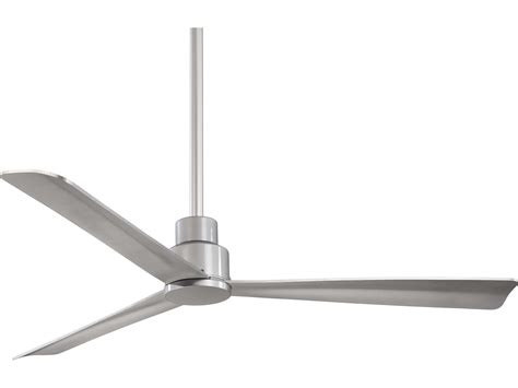 minka aire outdoor ceiling fans minka aire simple silver 52 wide outdoor ceiling fan