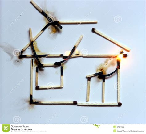 house fire no insurance home insurance stock photography image 17867922