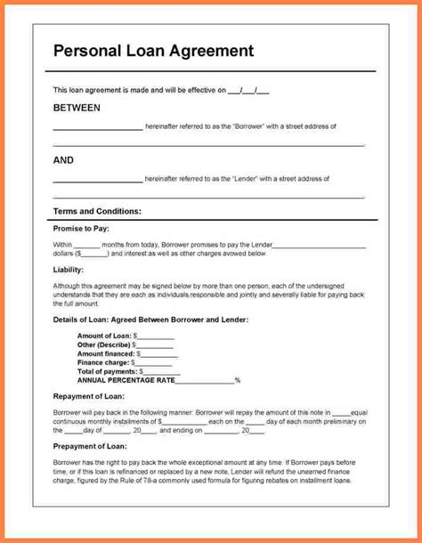 Template Loan Agreement Between Family Members 7 template loan agreement between family members