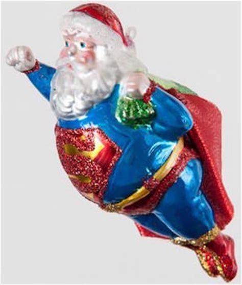 santa superman christmas tree ornament