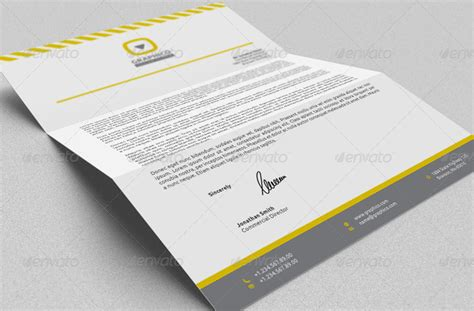design header paper corporate letterhead vol 13 with ms word doc docx by