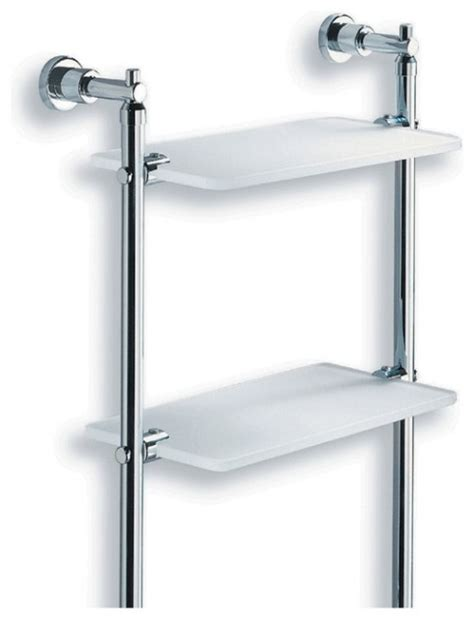 Metal Bathroom Wall Shelves Lacava Dodo Metal And Glass Bathroom Wall Shelf Modern Towel Bars And Hooks Other Metro