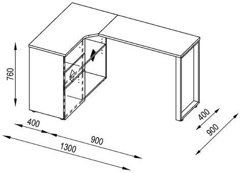 Corner Desk Dimensions Maja Penninsular White Corner Desk