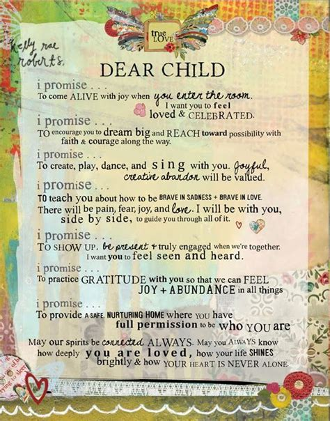 Parent Letter To Kid At C my child beautiful me beautiful