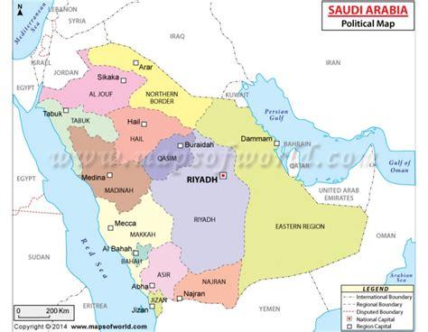 saudi arabia political map saudi arabia political map