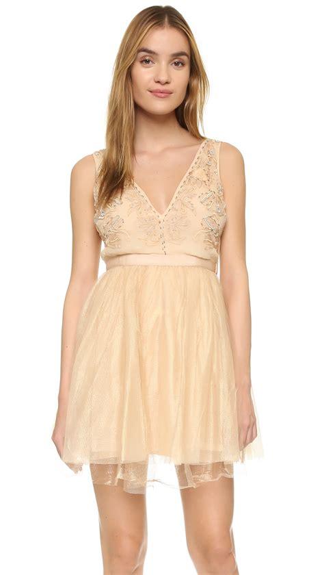 Dejavu Mini Gold Lyst Free Deja Vu Mini Dress In Pink