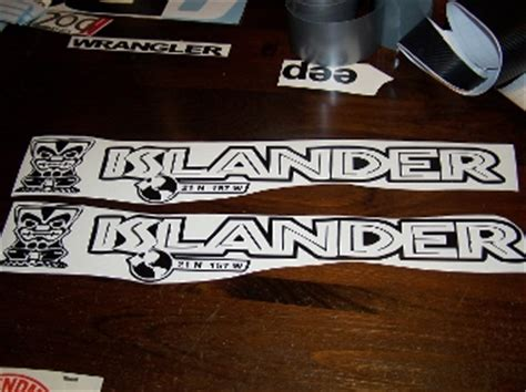 jeep islander decal jeep wrangler islander mountain road decal set