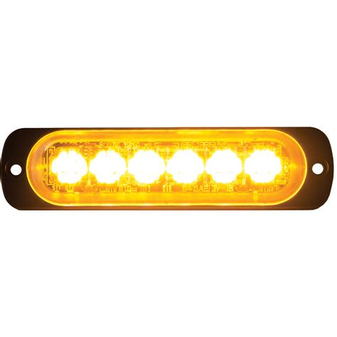 Buyers 8891900 4 375 Quot 6 Led Amber Aluminum Thin Mount Thin Led Lights