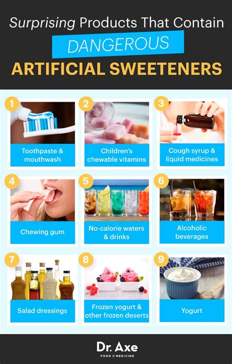 best sweeteners the 5 worst artificial sweeteners dr axe