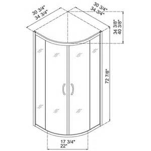 Dreamline Dl 6161 01cl Sector Clear Glass Shower Enclosure