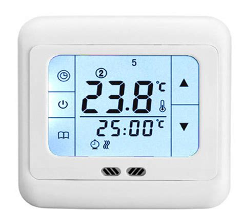 controlled room temperature touch screen thermostat for electric heating systems room temperature ebay