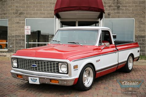 Low Profile Bed viper red 1972 chevrolet c10 for sale mcg marketplace