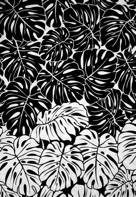 black and white pattern pinterest monstera leaf print black white pattern printed