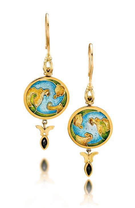 enamel jewelry custom enamel earrings yerba buena enamel jewelry by