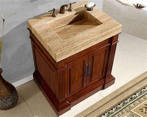 5 vanity top single sink silkroad 32 5 quot single sink cabinet travertine vanity top sink