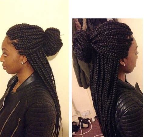 med style twist bried box braids medium large size haircandy pinterest
