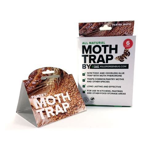 Pantry Moth Traps Pheromone all pantry moth trap with pheromone attractant by killer green 6 pack
