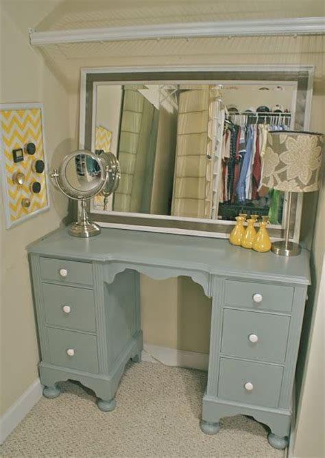 Upcycled Vanity Table Upcycled Desk Into Vanity Furniture My Hair Vanities And Dressing Tables