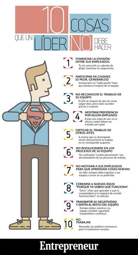 preguntas inteligentes para directivos 10 cosas que un l 237 der no debe hacer infografia