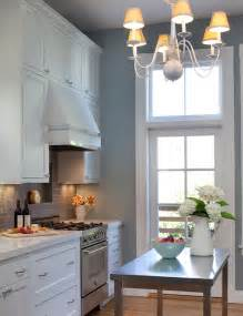 Gray Kitchen Walls With White Cabinets Gray Subway Tile Transitional Kitchen